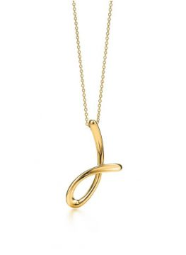Tiffany & Co. Elsa Peretti Letter Pendant Necklace