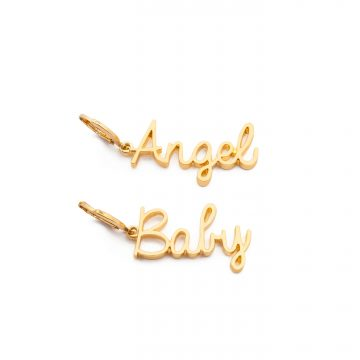 Frasier Sterling Angel Baby Huggies Earrings