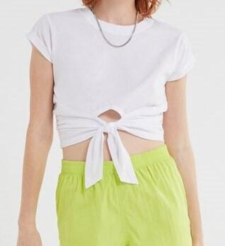Urban Outfitters Sonya TIe Front Crop Tee
