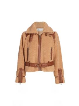 DH New York Alison Faux Shearling Moto Jacket
