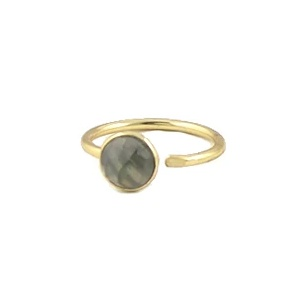 Peggy Li Round Cut Gemstone 'Labradorite' Ring