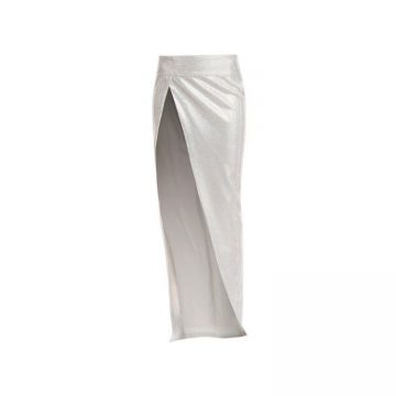 Balmain Draped Embroidered Skirt