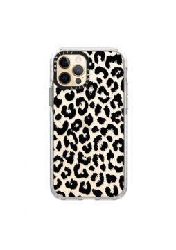 Casetify Black Transparent Leopard Phone Case