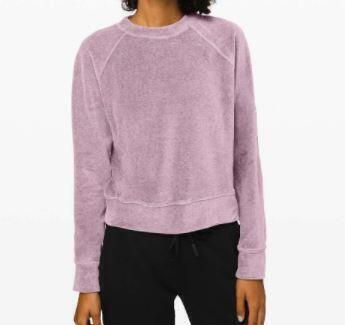 lululemon Every Moment 'Heathered Frosted Mulberry' Crewneck Sweater