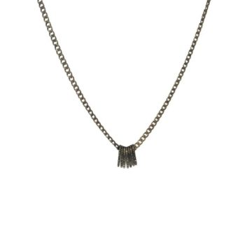 Shalla Wista Studio Baby Pave Diamond Spike Necklace