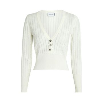 Significant Other Solace Pointelle Knit Henley Top