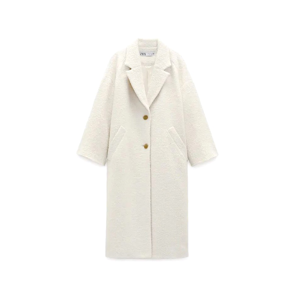Zara Textured Weave Coat