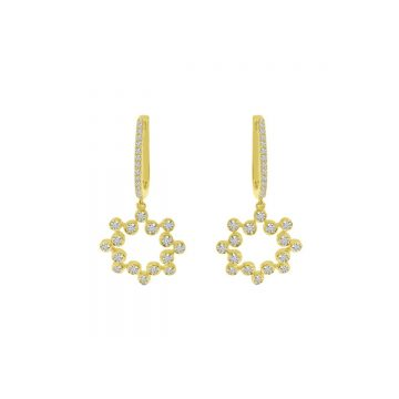 Brevani Bubble Diamond Huggies Earrings