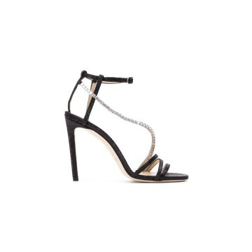 Jimmy Choo Thaia 100 Crystal Heel Sandals